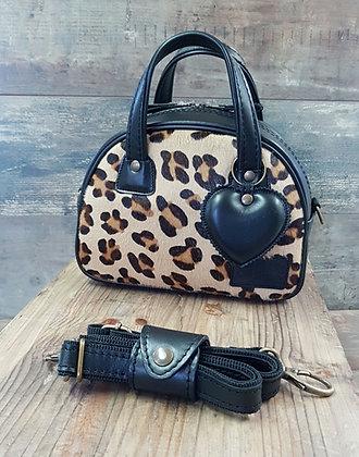 SkinAss MINI MISS cuir léopard / noir