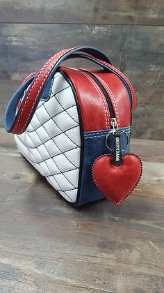 Sac SkinAss cuir tricolore matelassé / tricolor quilted leather bag