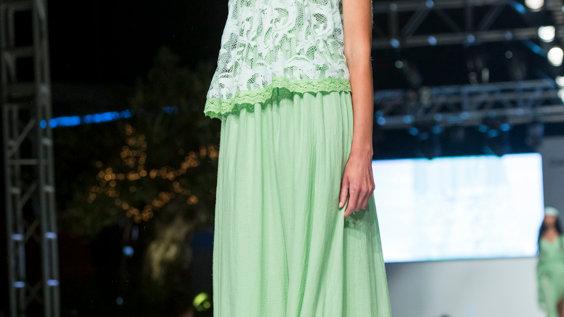 Sarita dress luxury net ibicencan gauze
