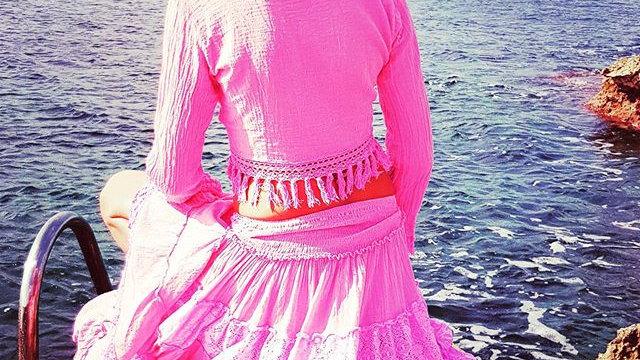 Conjunto Gipsy top and skirt