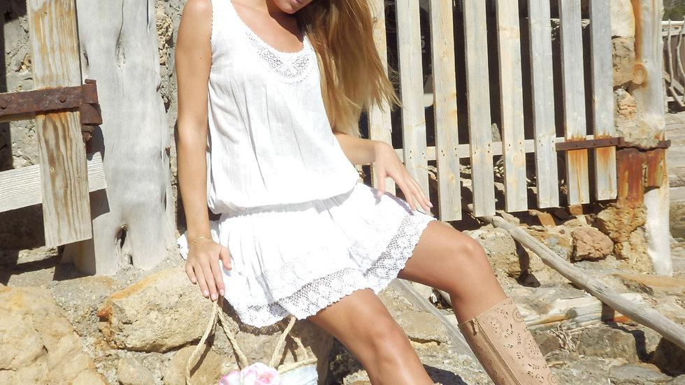 Vestido Kyra corto blanco adlib Ibiza