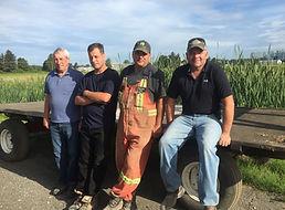 Ron Harris, Brent Harris, Dave Duchek, and Jeff Harris.