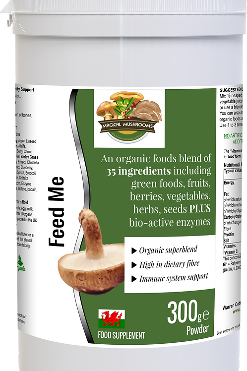 Feed Me - Organic Mushroom Nutrition with Fruit, Veg, Berries, Seeds and Enzymes