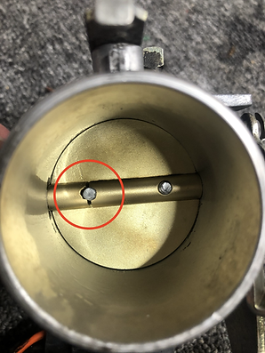 Buell throttle plate mounting holes