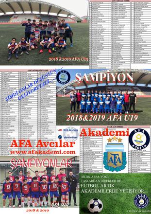 "AFA U13 - ""A"" - LİGİNDE ..."