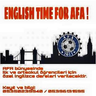 ENGLISH TIME FOR AFA !!!