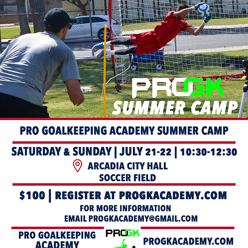 Pro GK Academy Summer Camp
