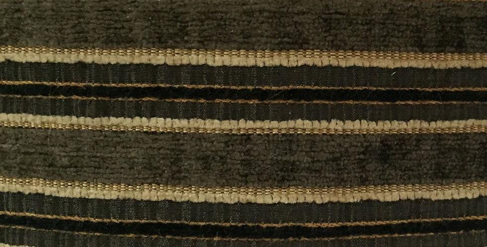 Black, Gold, and Cream Textured Stripe