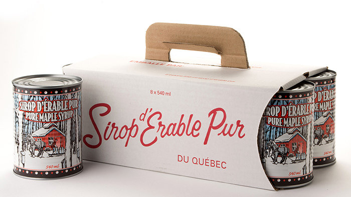 Sirop d'érable / Maple syrup (1 gallon)  100% pur,  Cat.A 8 x 540 ml