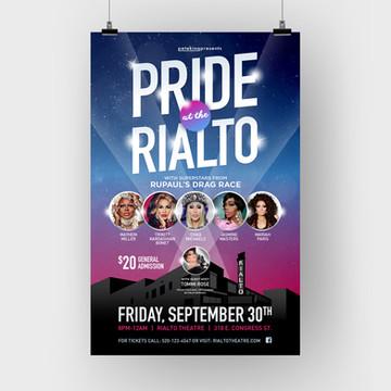 Pride at the Rialto Event Poster