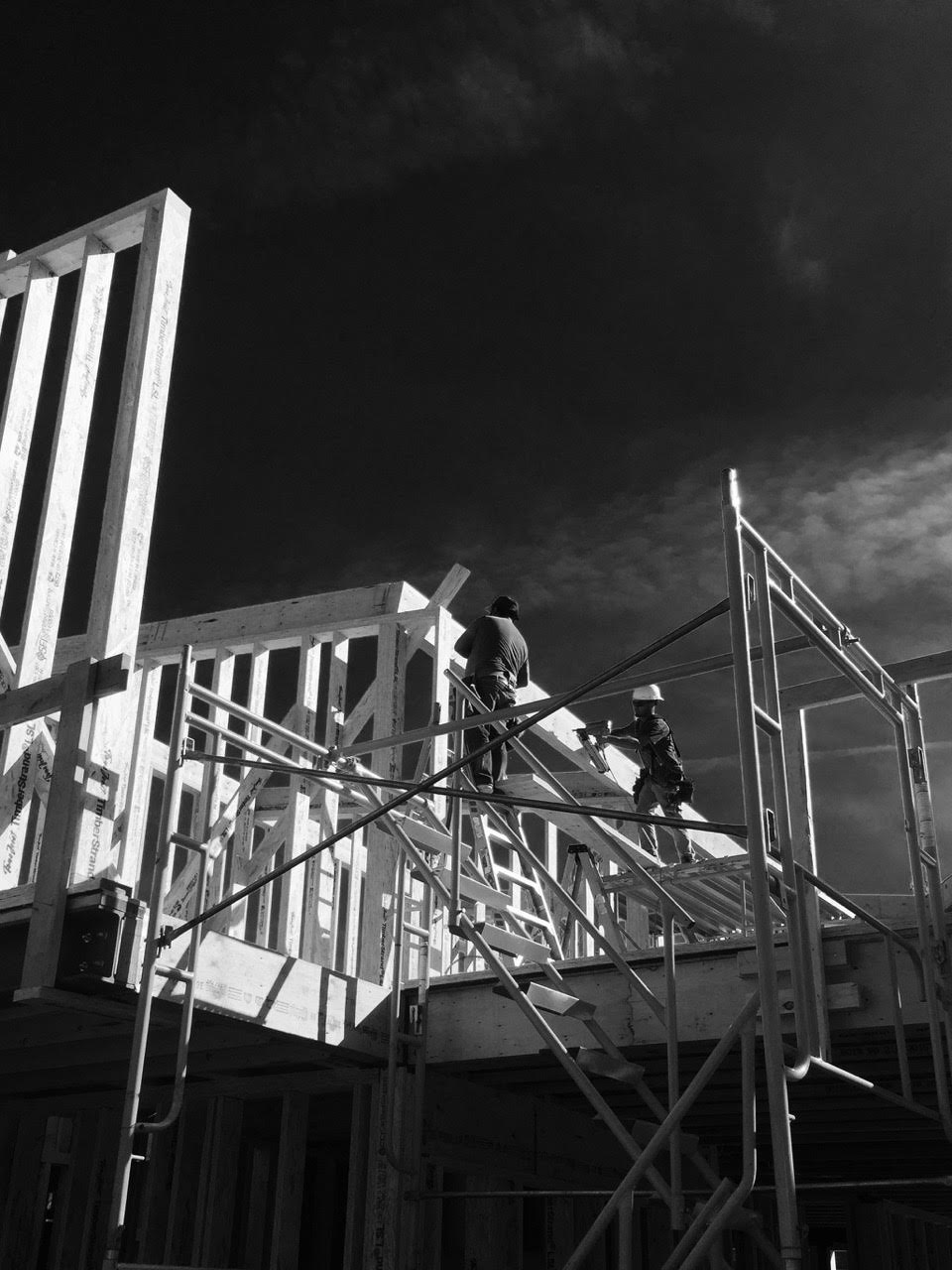 K2 Framing Crew Putting Up Beams