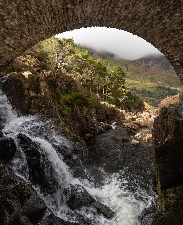 Under Roman Bridge near Llyn Idwal