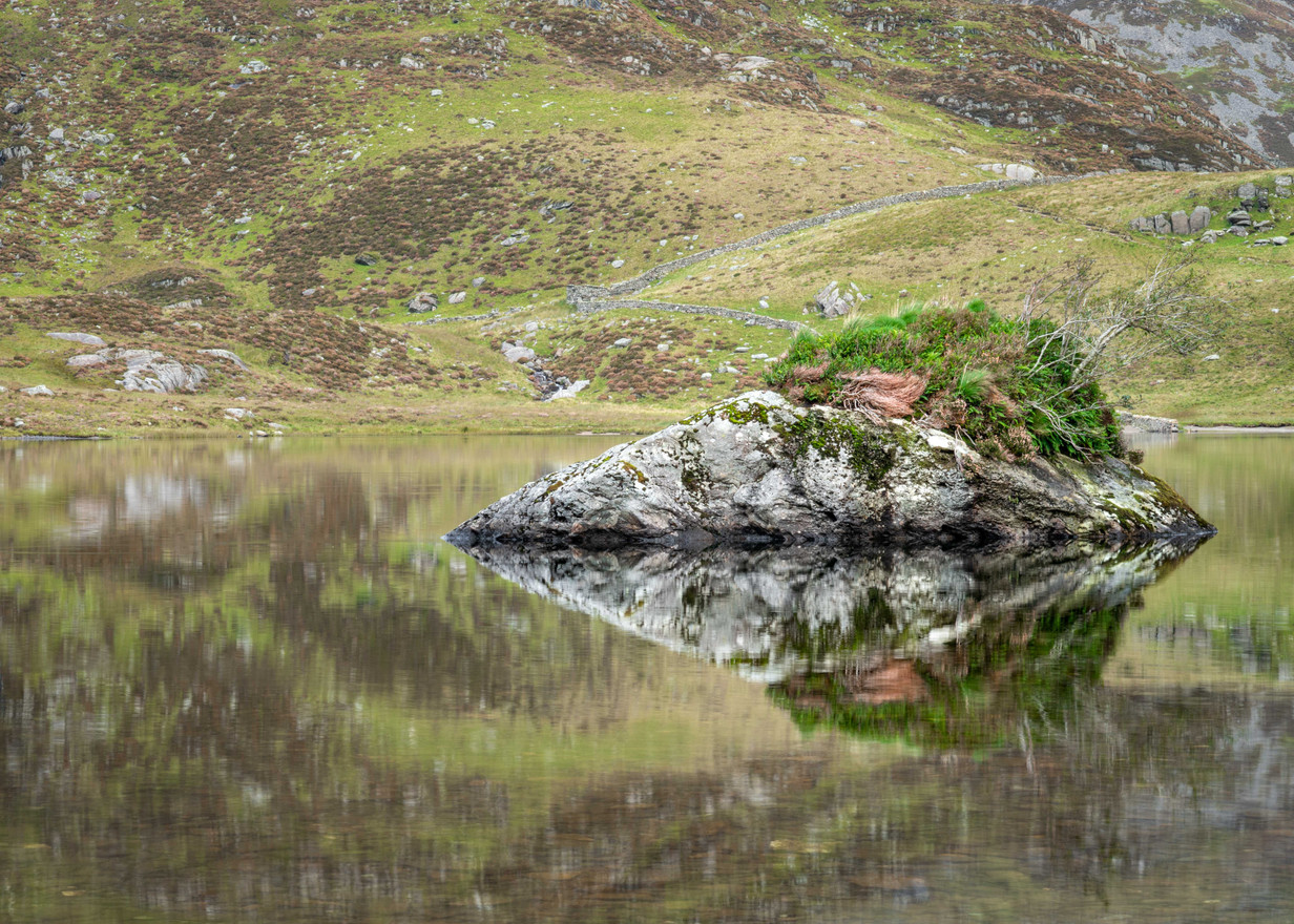 Reflected Island - Cwm Idwal
