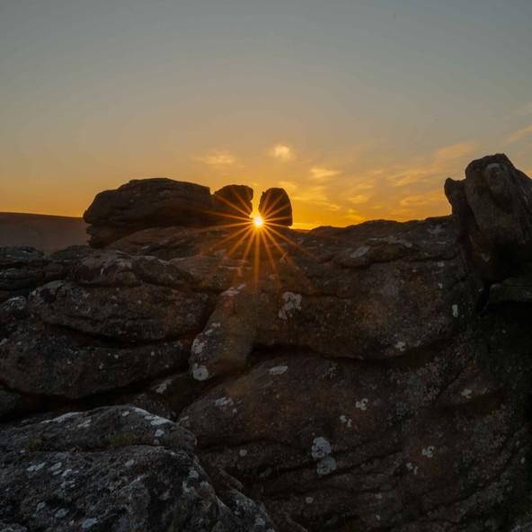 Sunset over Houndtor