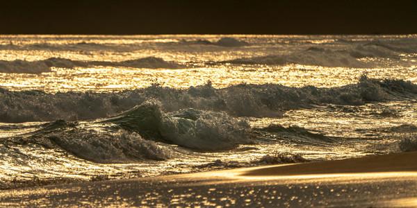 Golden Seas at Sunset