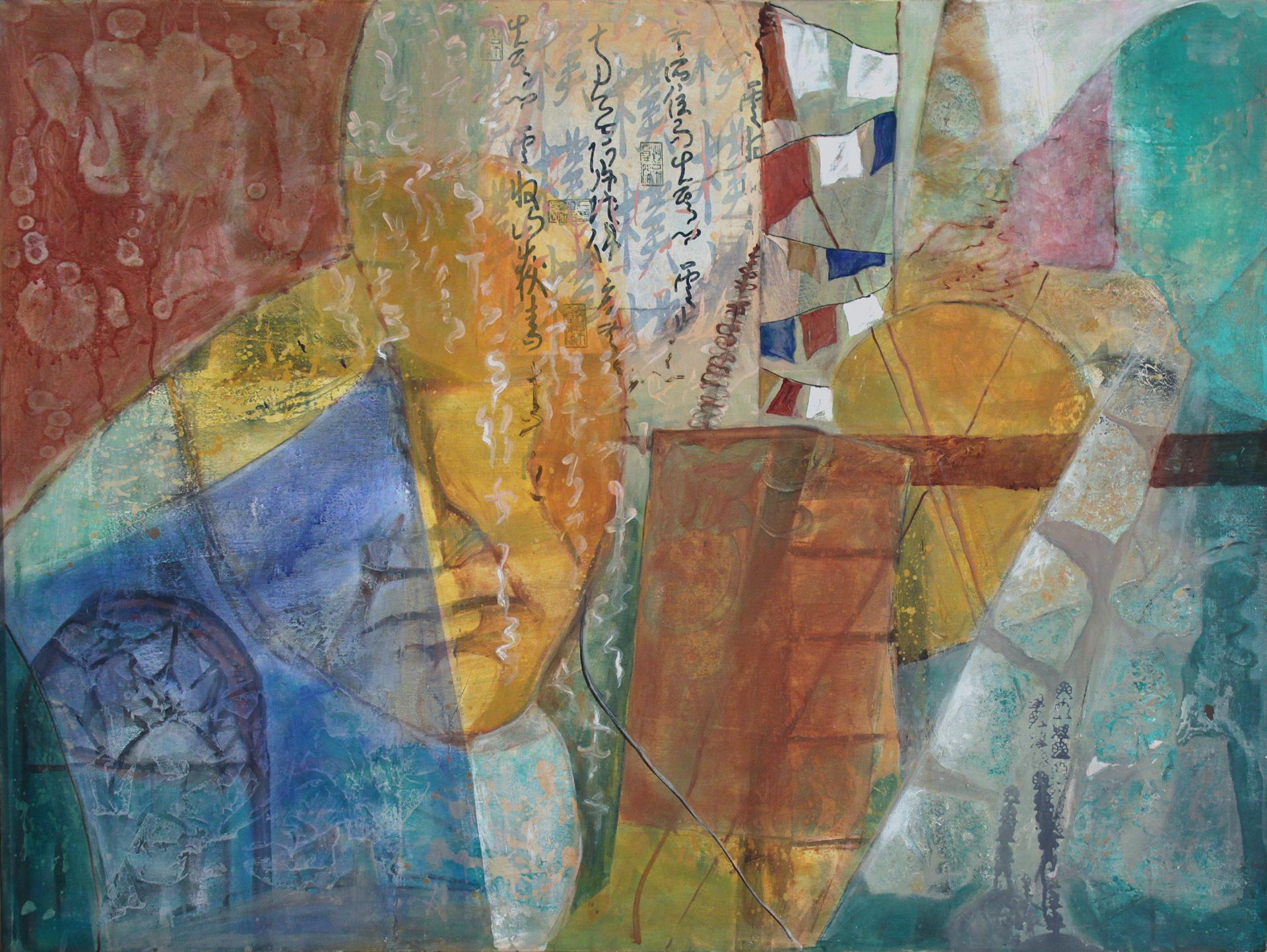 Behind the Prayers, 36x48, oil on canvas, 2014