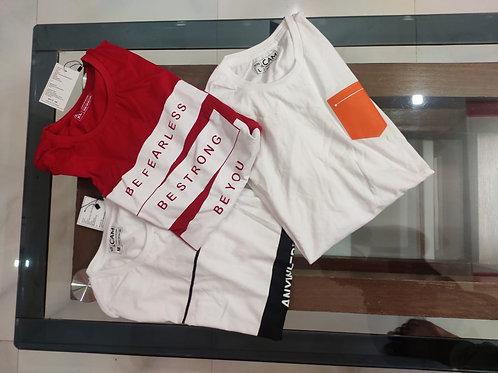 Pack of three Printed Premium T-shirt