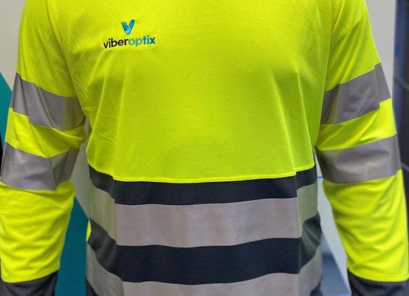 Viberoptix Hi-Vis polo top long sleeve (Snickers)