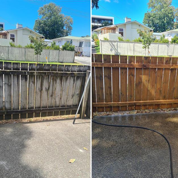 Fence Water Blasting