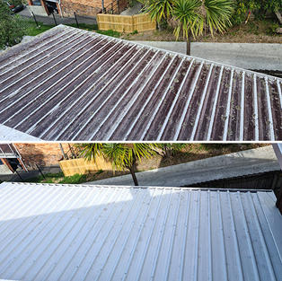 Roof Water Blasting