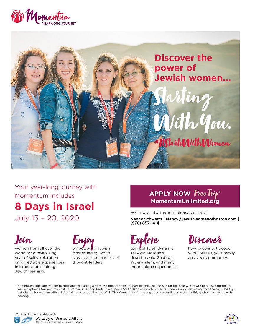 Trip Flyer_2019_Jewish Women of Boston M