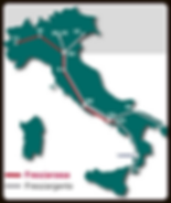 Italy Map of Bullet Trains