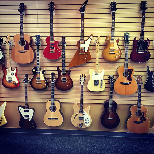 New, used and vintage guitars