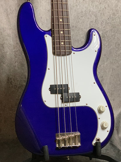 1998 Fender MIM Precision Bass in Blue.