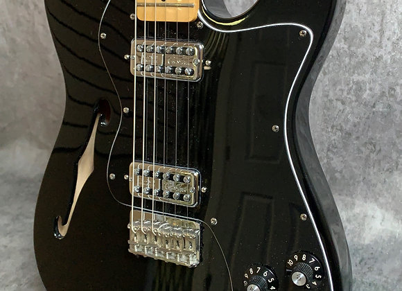 2012 Fender Classic Player Telecaster Thinline Deluxe in black