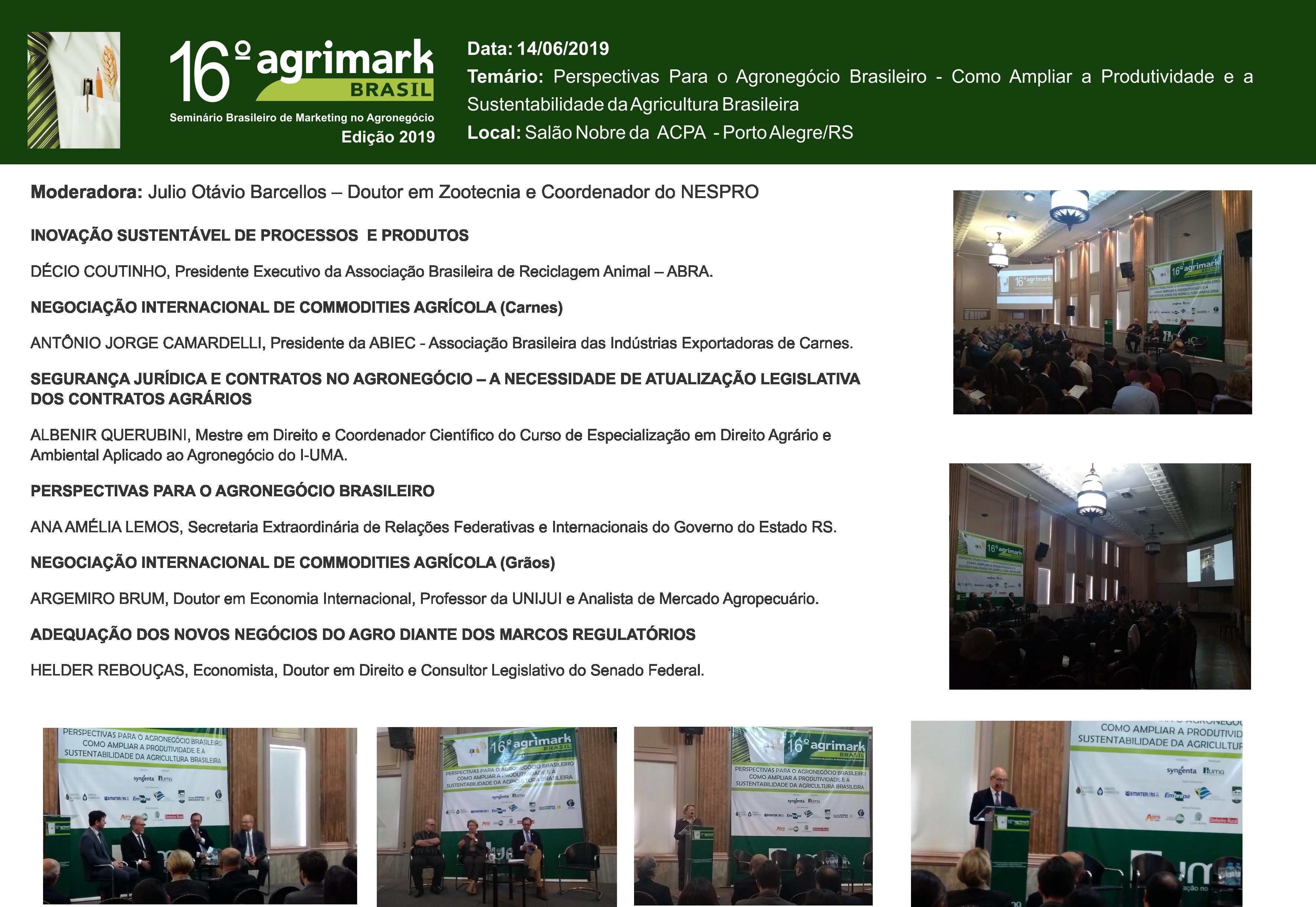 Edições anteriores Agrimark  - 16º