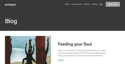 blog section-header