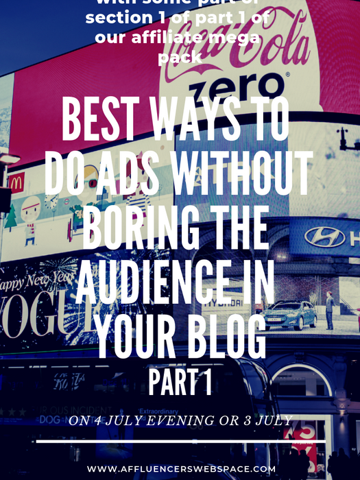 how to advertise without boring the audience