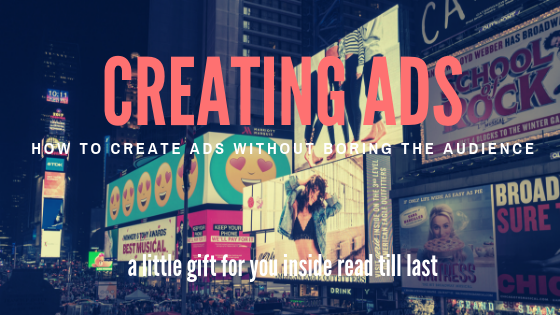 creating-ads-how-to-create-ads-without-boring-the-audience-a-little-gift-heading-with-times square-in-new-york-city-with-digital-advertisement-banners-in-the-background