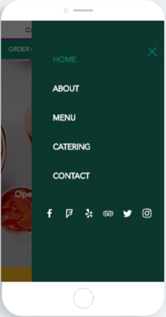 menu page-mobile version