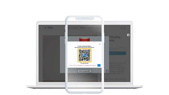 Nvzn Shopify App showing scannable QR code on Product detail page