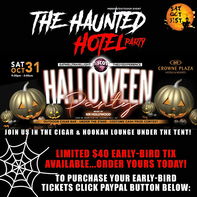 HAUNTED HOTEL PARTY- HALLOWEENNJ2020-TIX