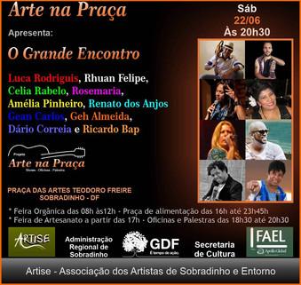 Grande encontro musical encerra segunda fase do Projeto Arte na Praça