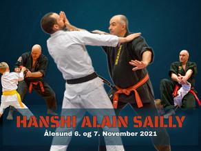 Hanshi Alain Sailly 9. Dan besøker Ålesund