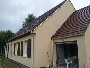 Isolation par l'extérieur d'un pavillon à Troissereux, Oise