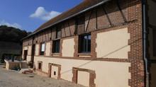 Rénovation d'un corps de ferme à Glisolles, Eure.