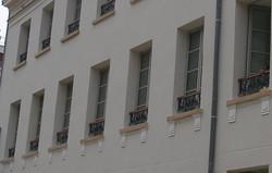 Détail de la façade Louviers Eure