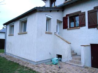 Isolation extérieure de l'extension d'une maison à Milly sur Therain, Oise