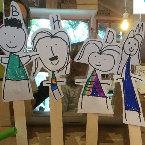 """In the #Atelier, one child said to me while making a #representationaldrawing of her family, """"Do you"""