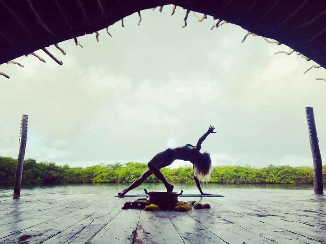 Yoga practice deck