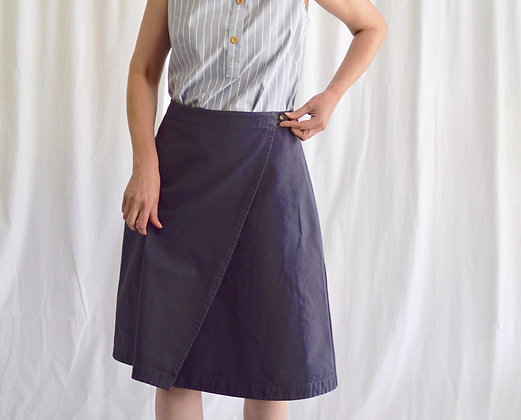 Organic Apron Skirt in Anthracite Cotton