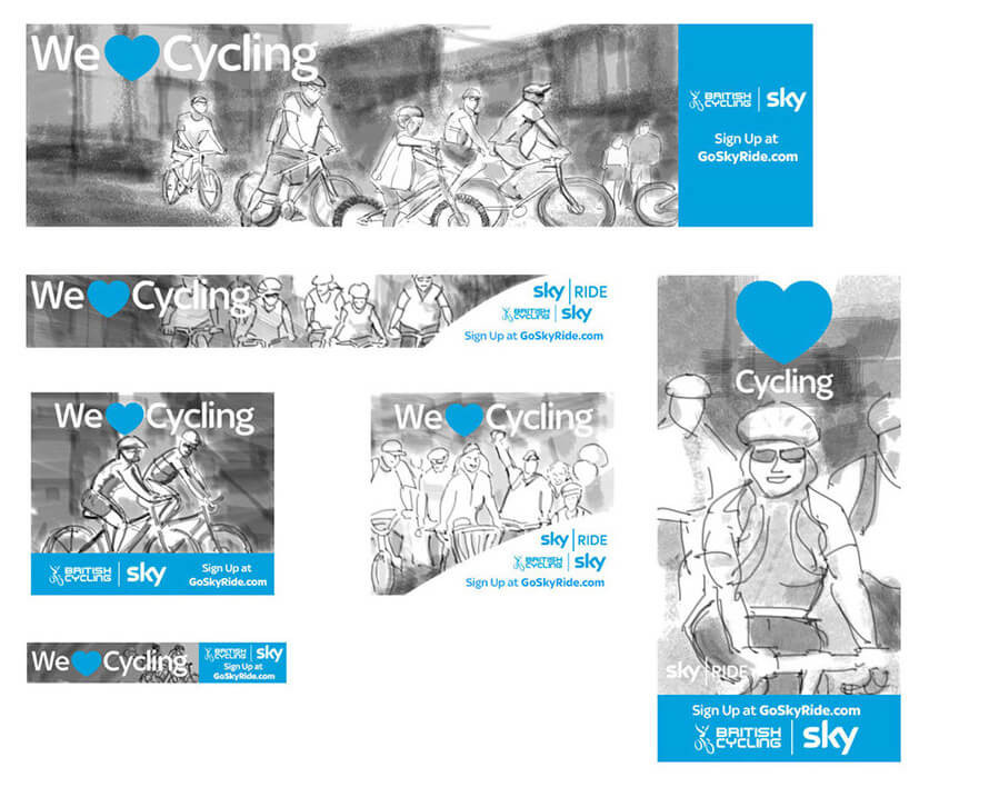 Sky Cycling banners- Storyboards