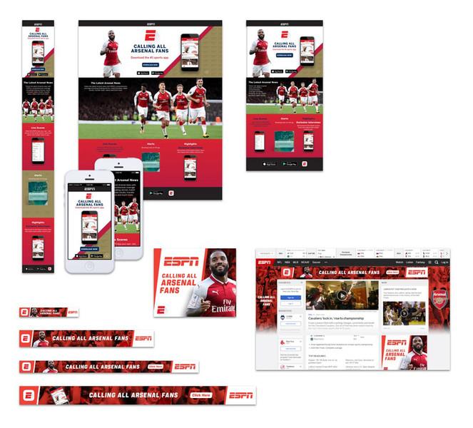 Club Landing Page- Banner Campaign | ESPN