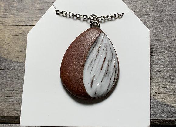 Ceramic Carved Pendant