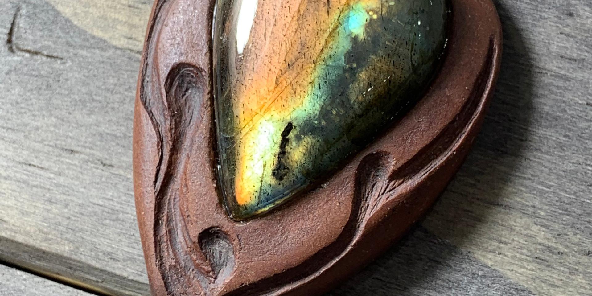 Fire Labradorite Pendant