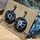 Thumbnail: Moody Blue Daisy Swinging Earrings